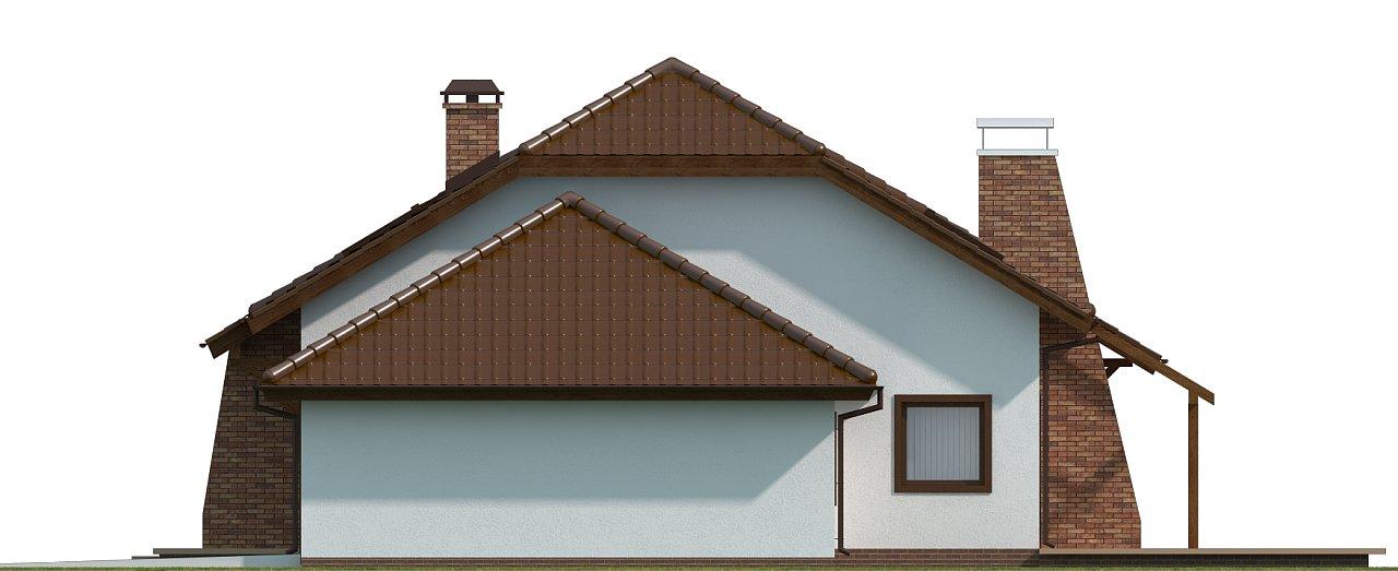 Проект комфортного дома с большим гаражом и дополнительной спальней на первом этаже. 15