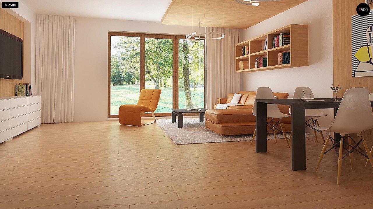 Проект одноэтажного классического дома адаптированного для каркасной технологии строительства. - фото 4