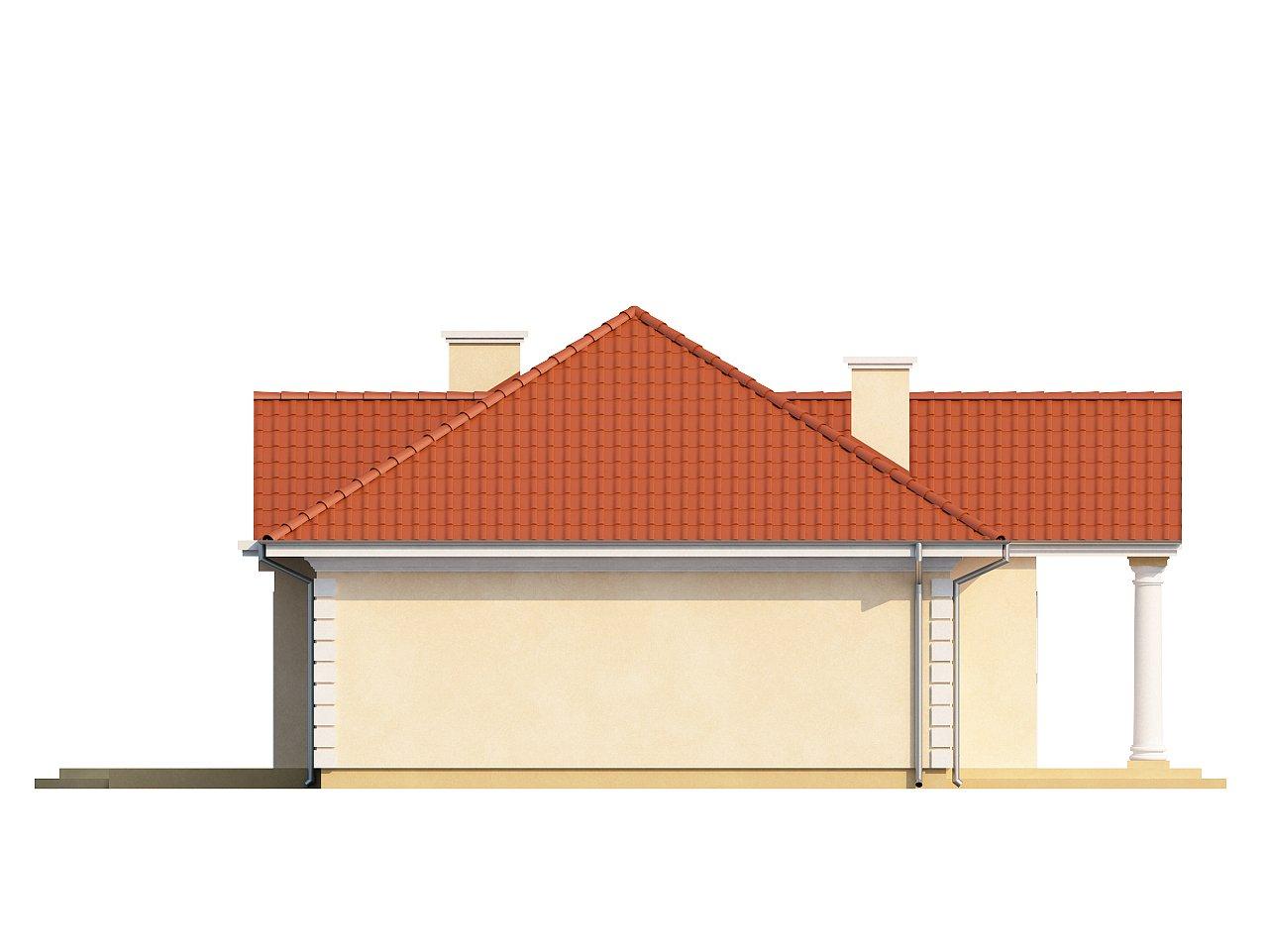 Проект в стиле дворянской усадьбы с возможностью обустройства чердачного помещения. 16