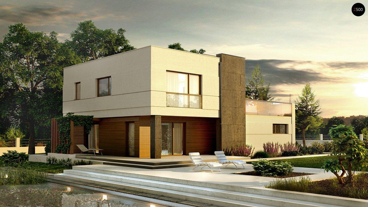 Комфортный современный дом с гаражом для двух авто и обширной террасой на втором этаже. - фото 1
