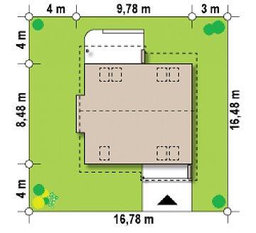 Компактный дом с мансардой, эркером в дневной зоне и c кабинетом на первом этаже. план помещений 1