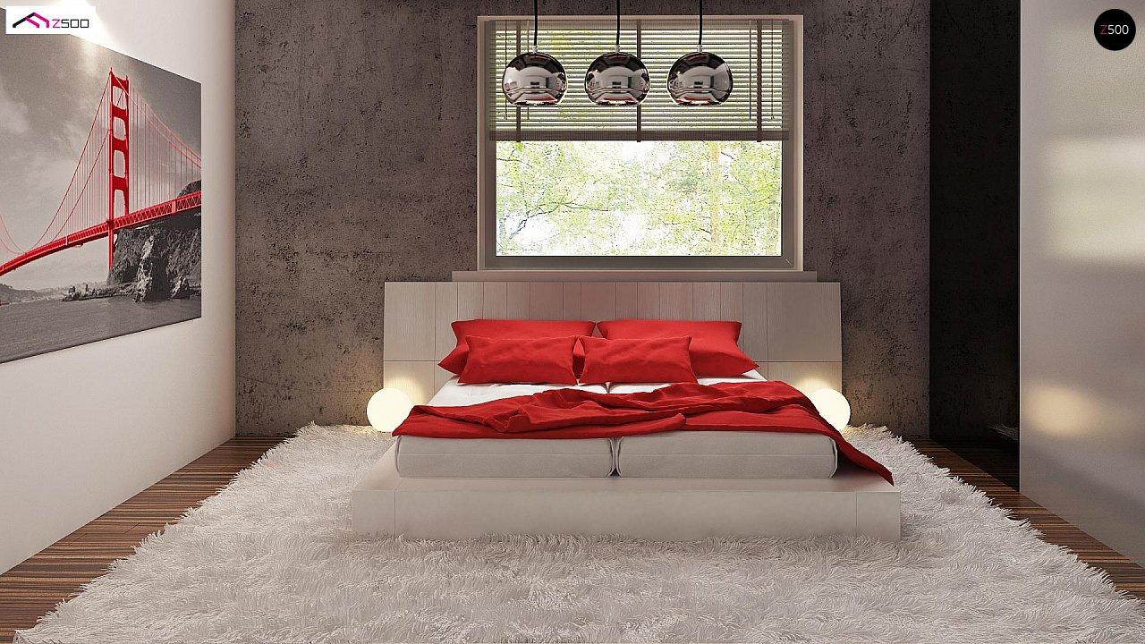 Одноэтажный коттедж с четырехскатной кровлей 15