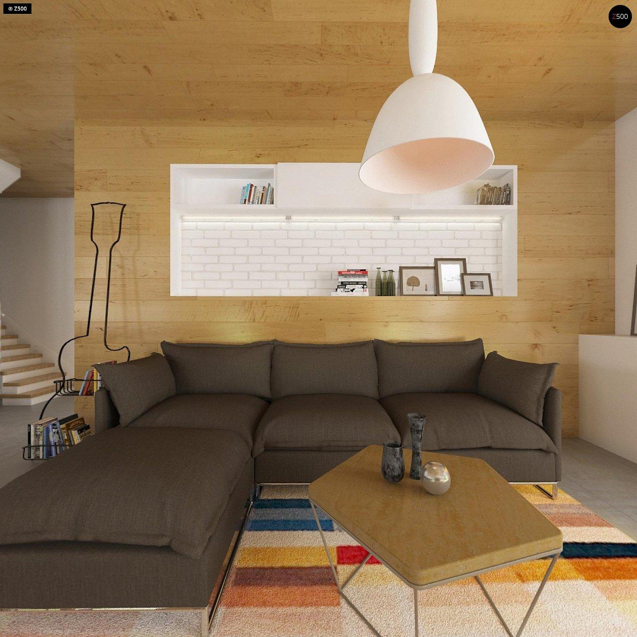 Комфортный современный дом с гаражом для двух авто и обширной террасой на втором этаже. - фото 5