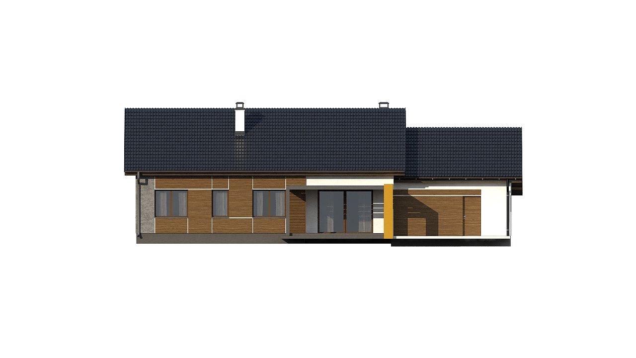 Версия проекта Z287 c большим гаражным помещением. 15