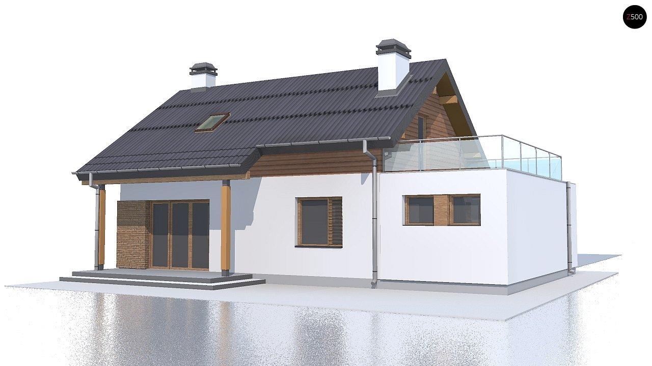 Версия проекта Z210 c гаражом, с альтернативной планировкой. - фото 2