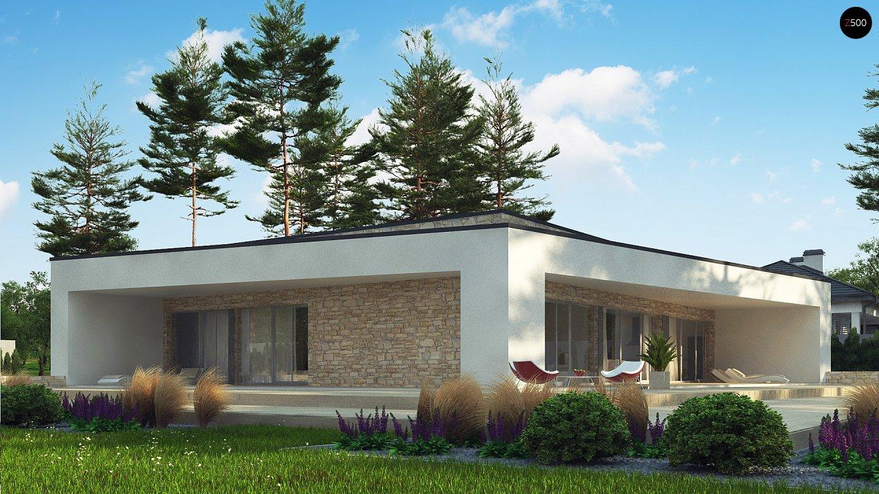 Одноэтажный коттедж с гаражом на одну машину и уютной террасой 10