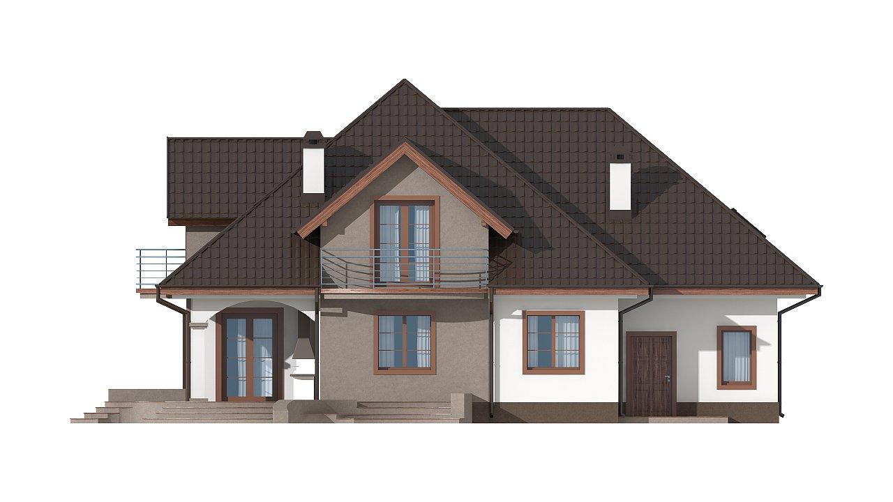 Версия проекта Z18 со встроенным гаражом с левой стороны дома - фото 26