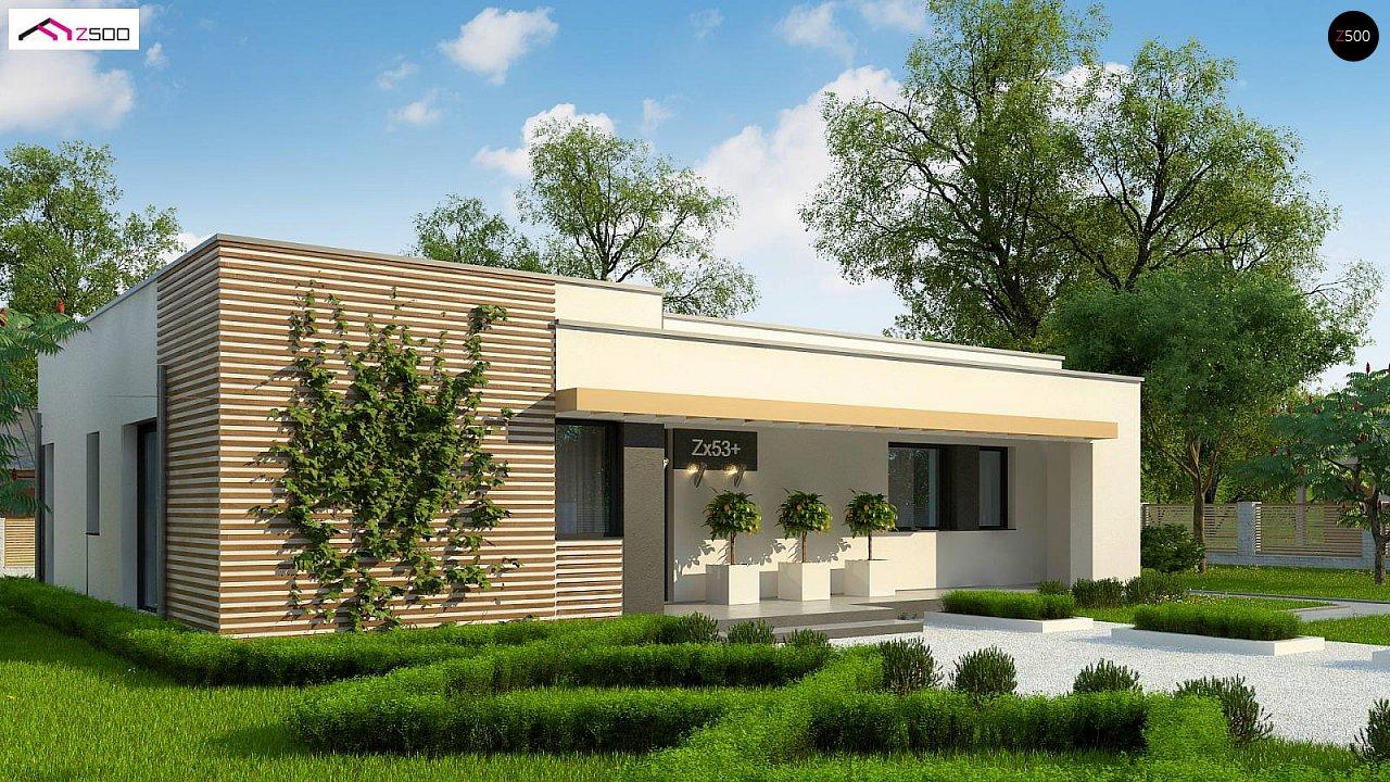 Современный комфортабельный одноэтажный дом с функциональным интерьером и уютной террасой. 1