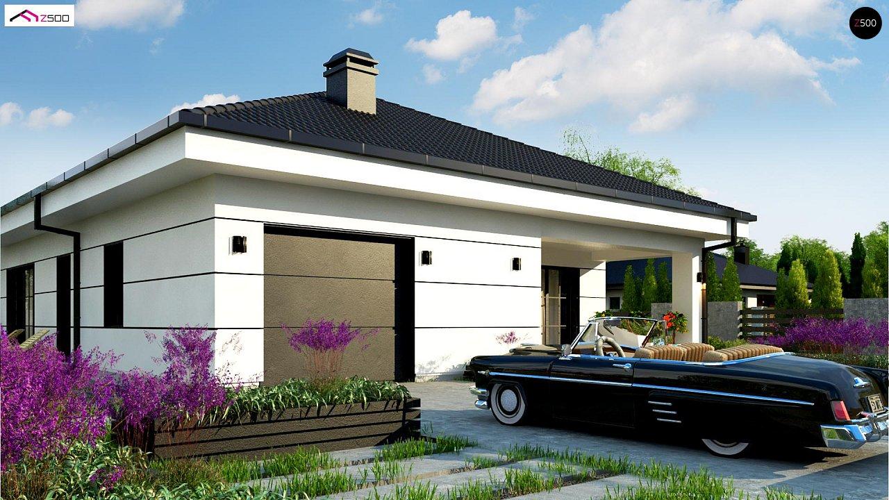 Современный одноэтажный дом с тремя спальнями и гаражом на одну позицию. - фото 2