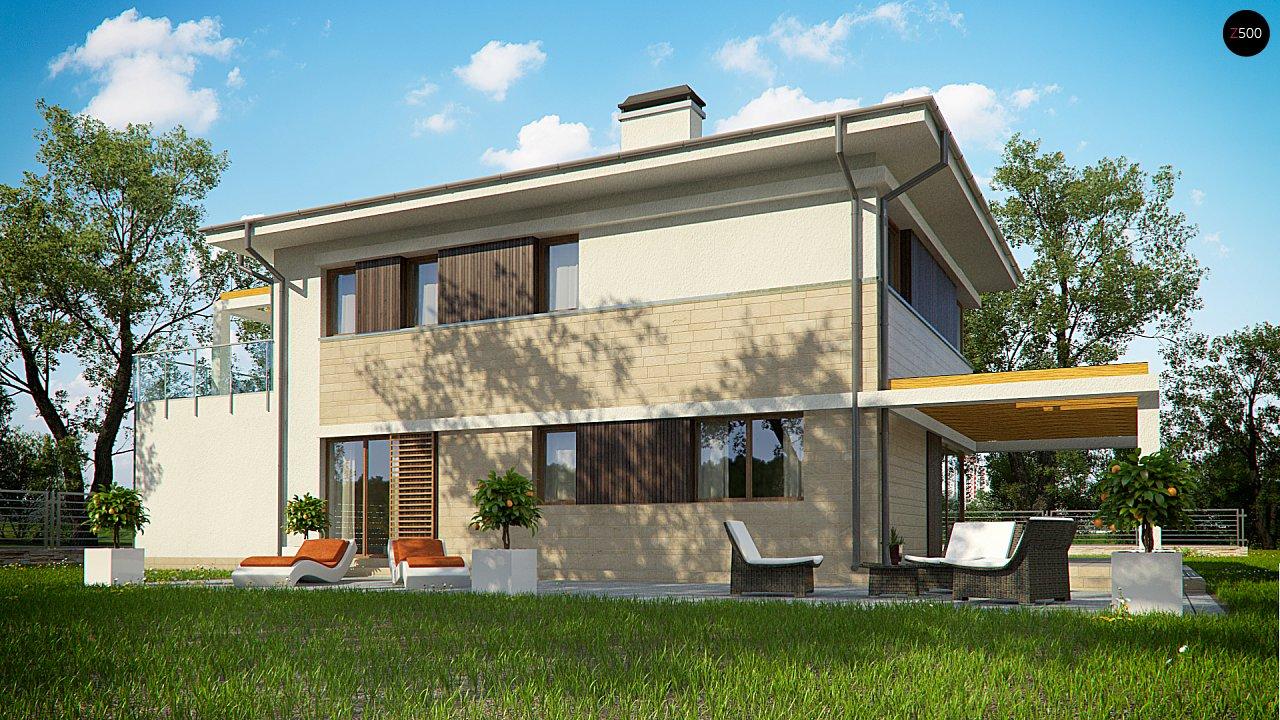 Увеличенная версия проекта современного дома Zx63 B 4