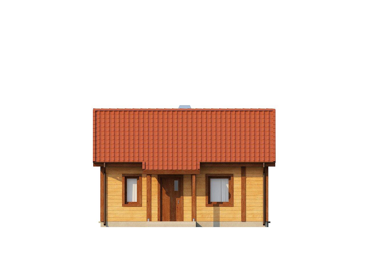 Маленький одноэтажный дом, оснащенный всем необходимым для круглогодичного проживания. 12