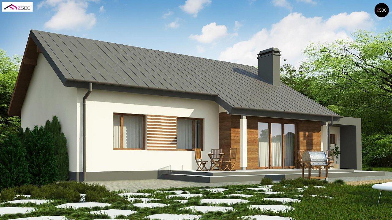 Дом, выполненный в традиционном стиле с одноуровневой планировкой. 4