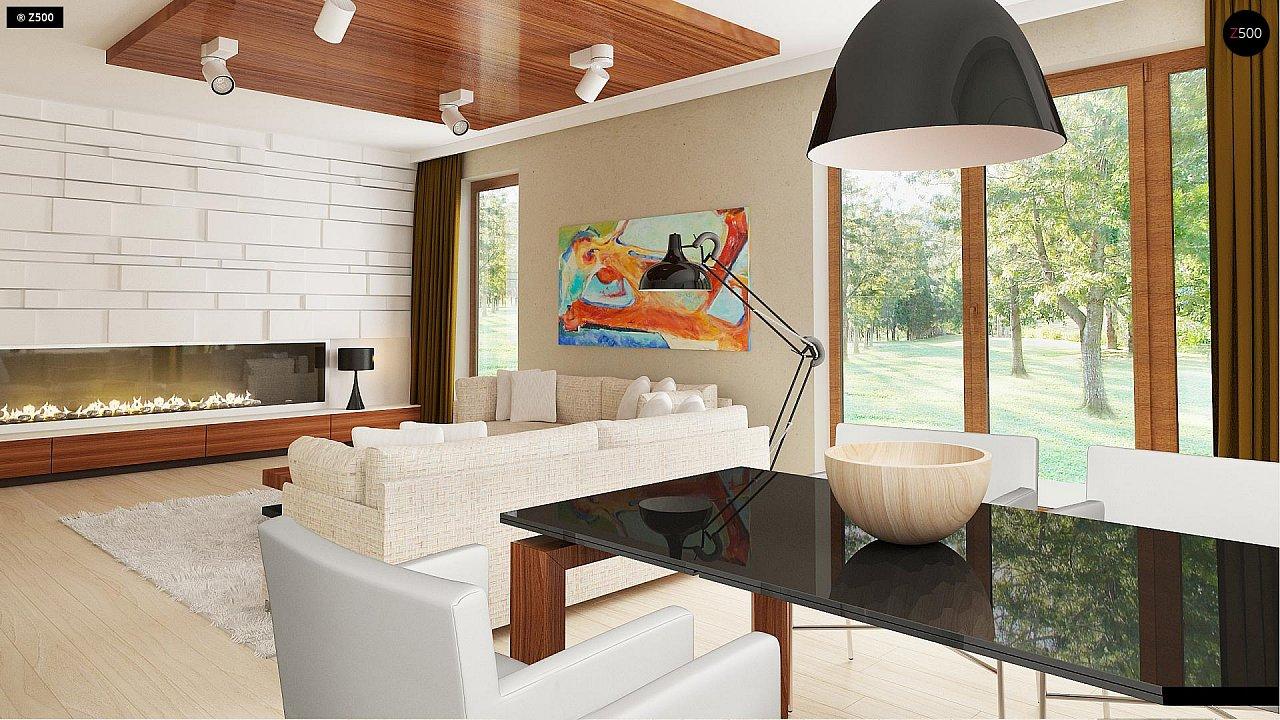Функциональный традиционный дом с современными элементами в архитектуре, со встроенным гаражом. 6