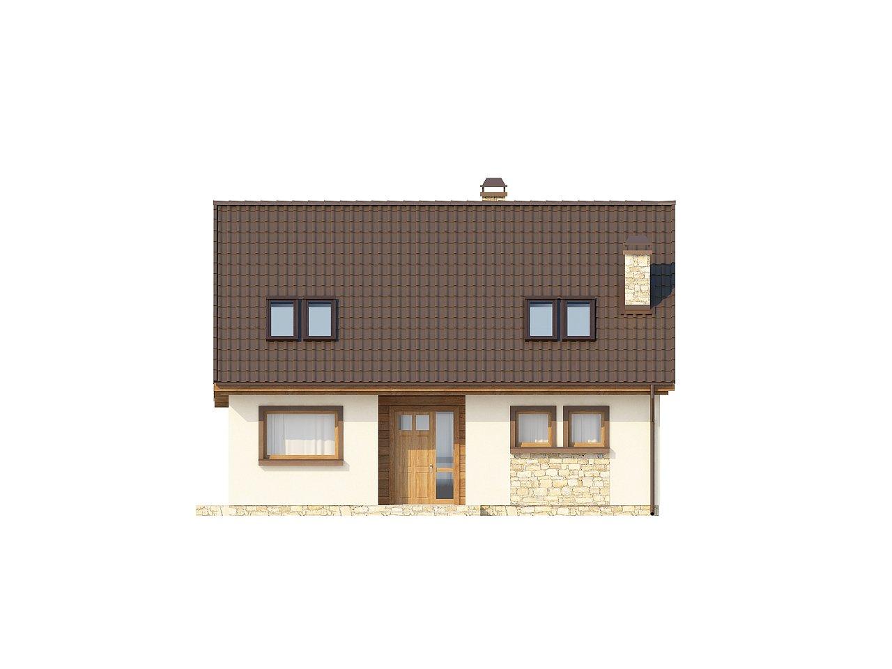 Выгодный и простой в строительстве дом с эркером в дневной зоне. 21