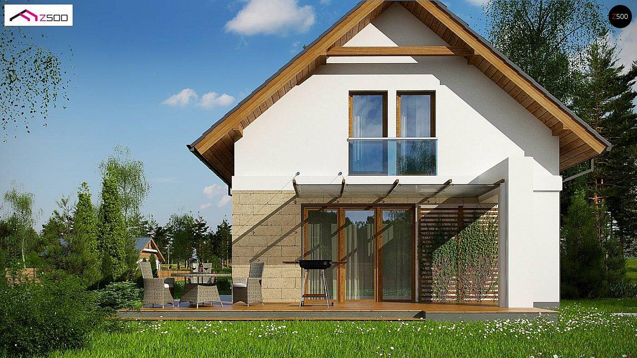 Проект мансардного дома с 4 спальнями и кабинетом. - фото 4