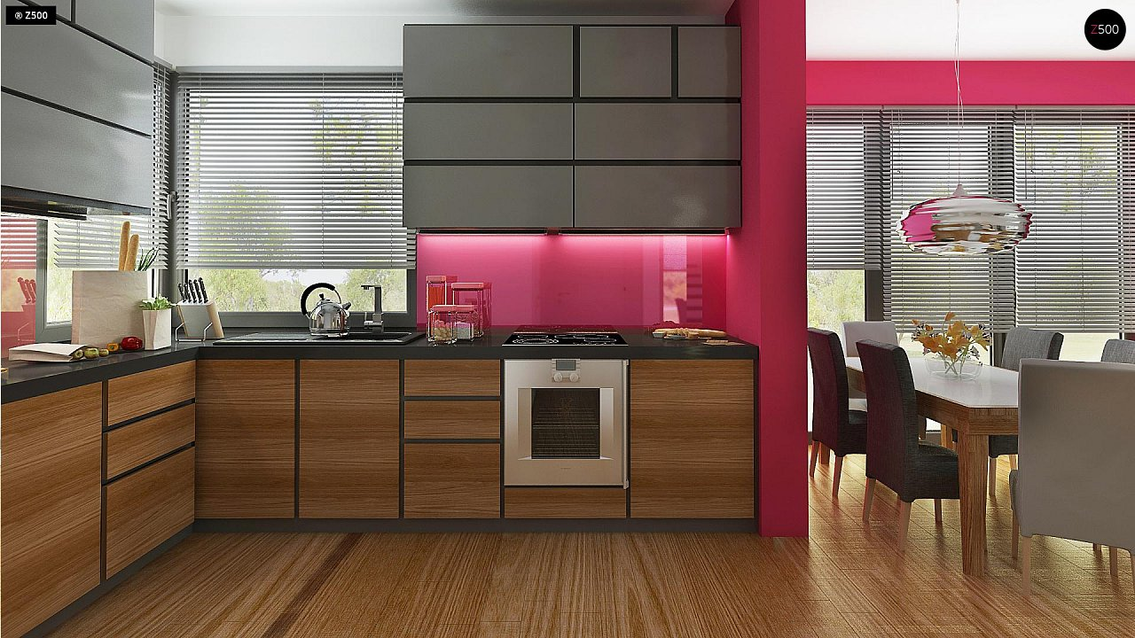 Дом простой энергосберегающей формы со светлым интерьером, подходящий для узкого участка. - фото 7