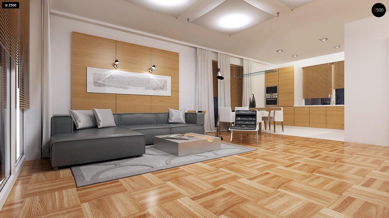 Компактный одноэтажный дом простой формы с возможностью обустройства чердачного помещения. 3
