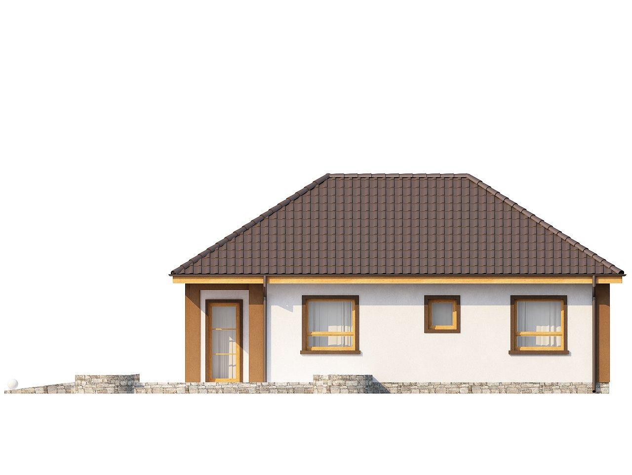 Небольшой комфортный одноэтажный дом в форме буквы «L» с тремя спальнями. - фото 3