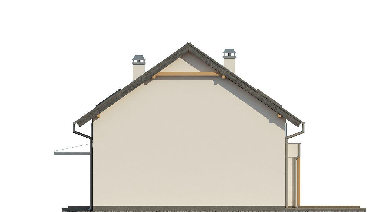 Дом простой энергосберегающей формы со светлым интерьером, подходящий для узкого участка. - фото 13