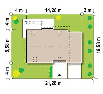 Уютный дом с кабинетом на первом этаже, оригинальным мансардным окном и террасой над гаражом. план помещений 1