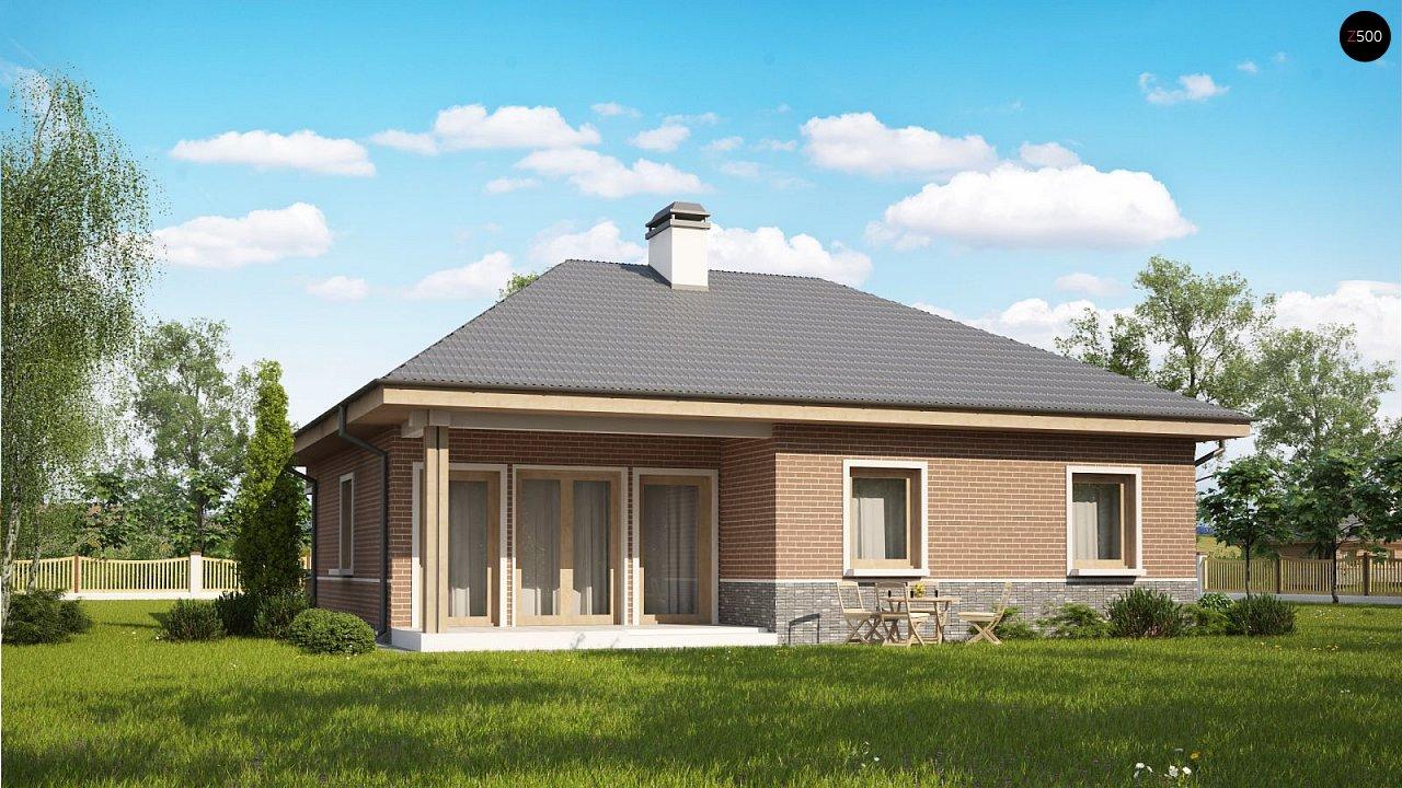 Версия проекта Z24 с кирпичными фасадами. - фото 1
