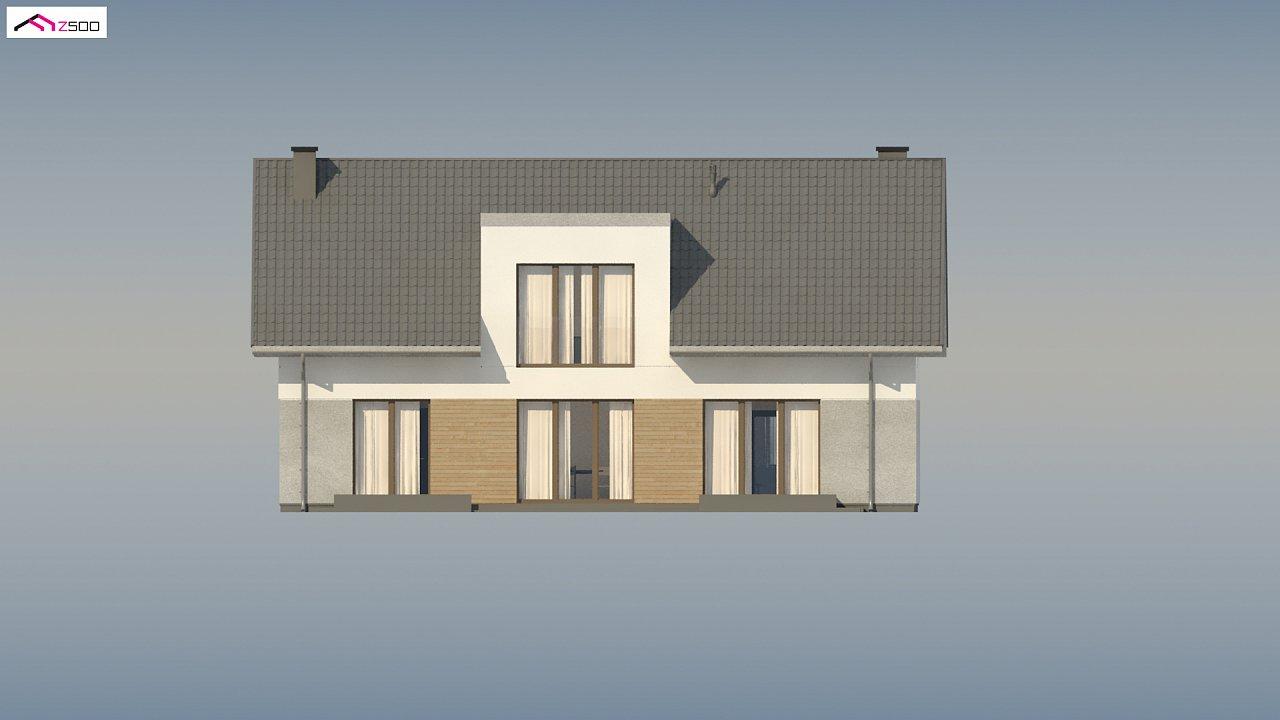 Cтильный мансардный дом с гаражом для двух машин 8