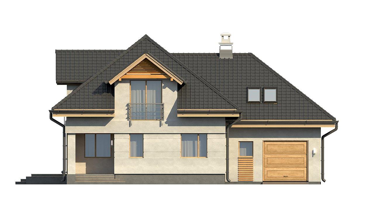 Комфортный дом привлекательного дизайна с дополнительной комнатой над гаражом. 16
