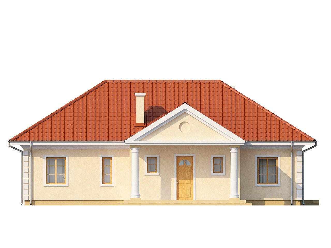 Проект в стиле дворянской усадьбы с возможностью обустройства чердачного помещения. 13