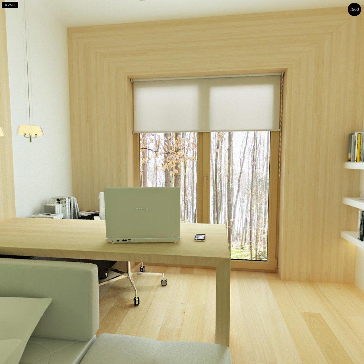 Двухэтажный дом, сочетающий традиционные формы и современный дизайн, с тремя спальнями и гаражом. 12