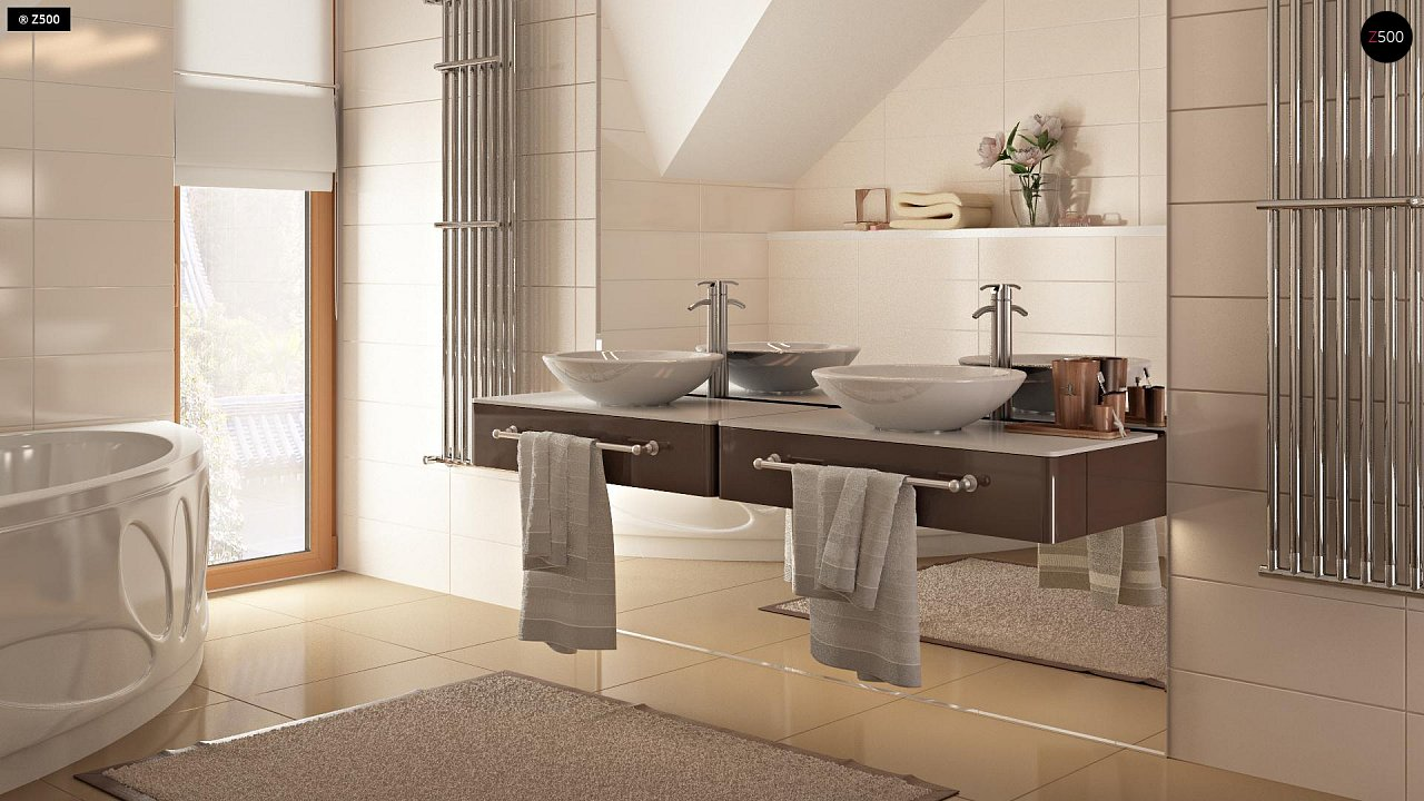 Проект стильного, функционального и недорогого двухсемейного дома. 18