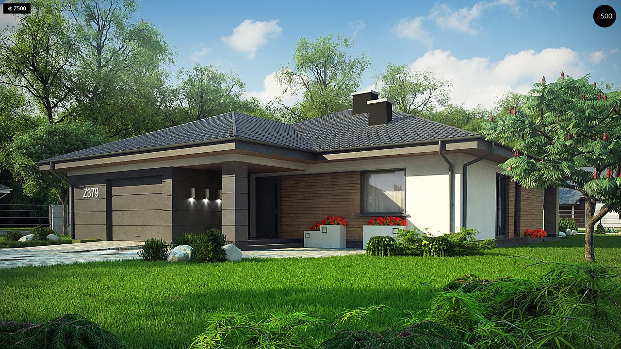 Проект стильного одноэтажного дома с функциональной планировкой - фото 1
