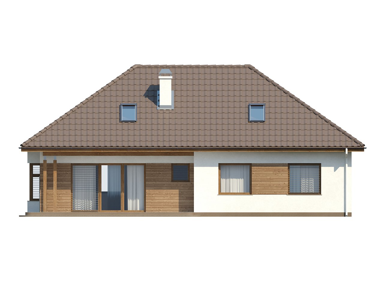 Проект традиционного дома с возможностью адаптации чердачного помещения. 13