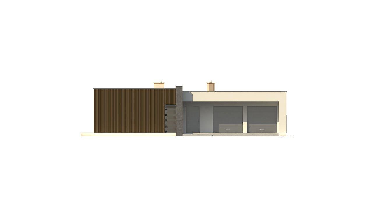 Подвариант одноэтажного дома Zx49 с гаражом для двух машин. 23
