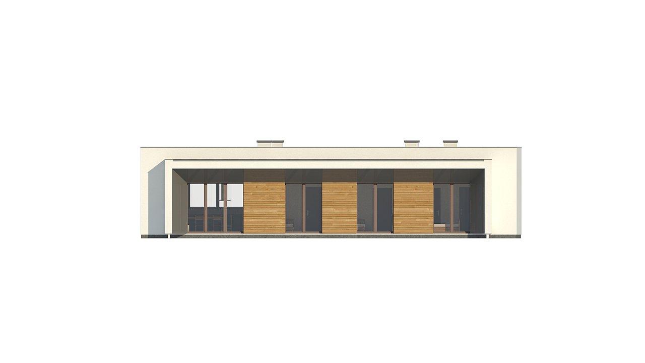 Современный плоскокровельный дом с компактной и удобной планировкой 7