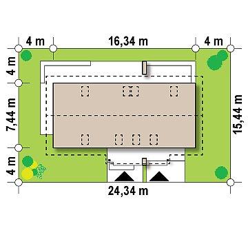 Простой и функциональный двухсемейный дом с отдельными входами. план помещений 1