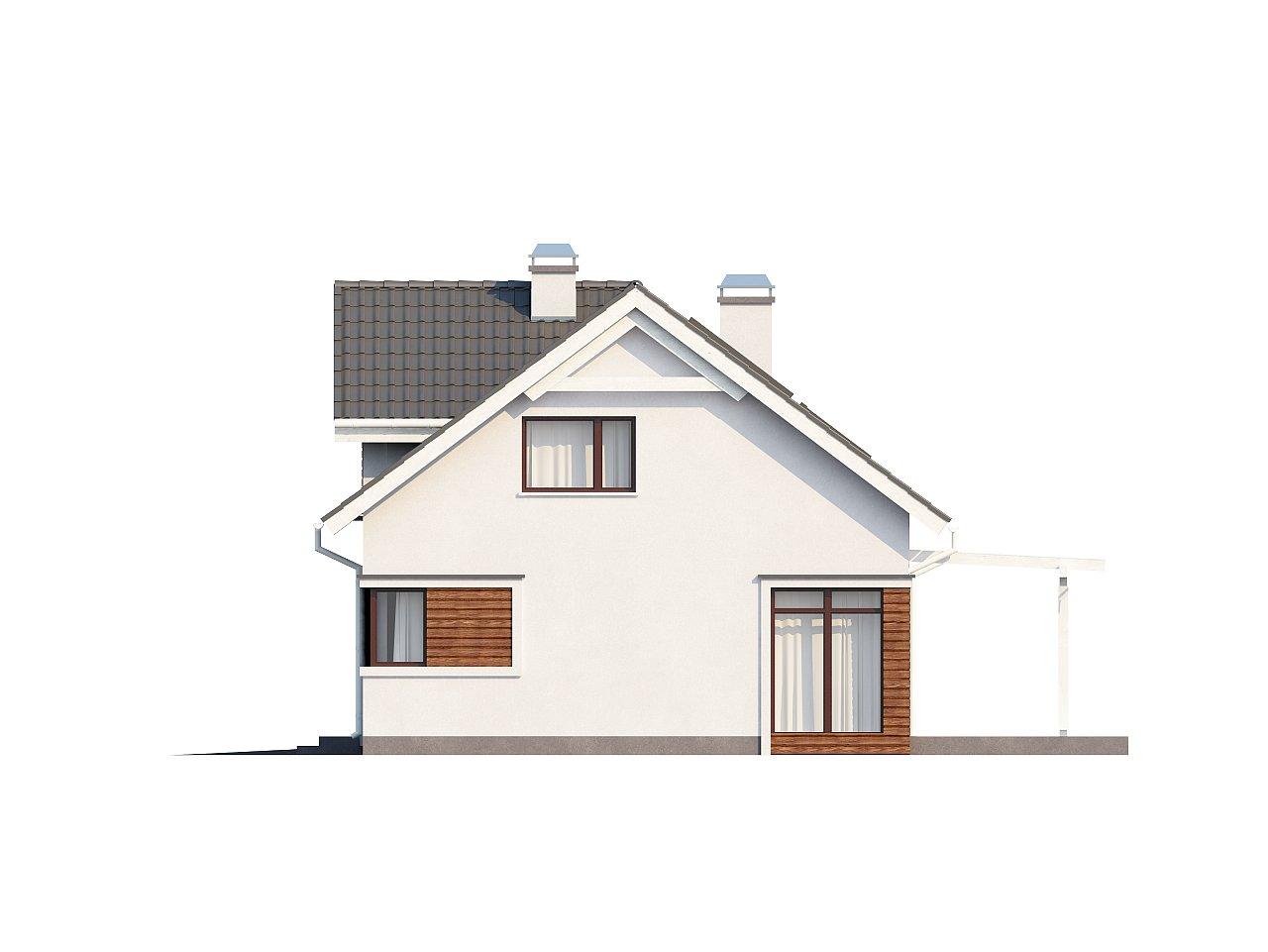 Дом со встроенным гаражом, красивым мансардным окном и вторым светом над гостиной. - фото 13