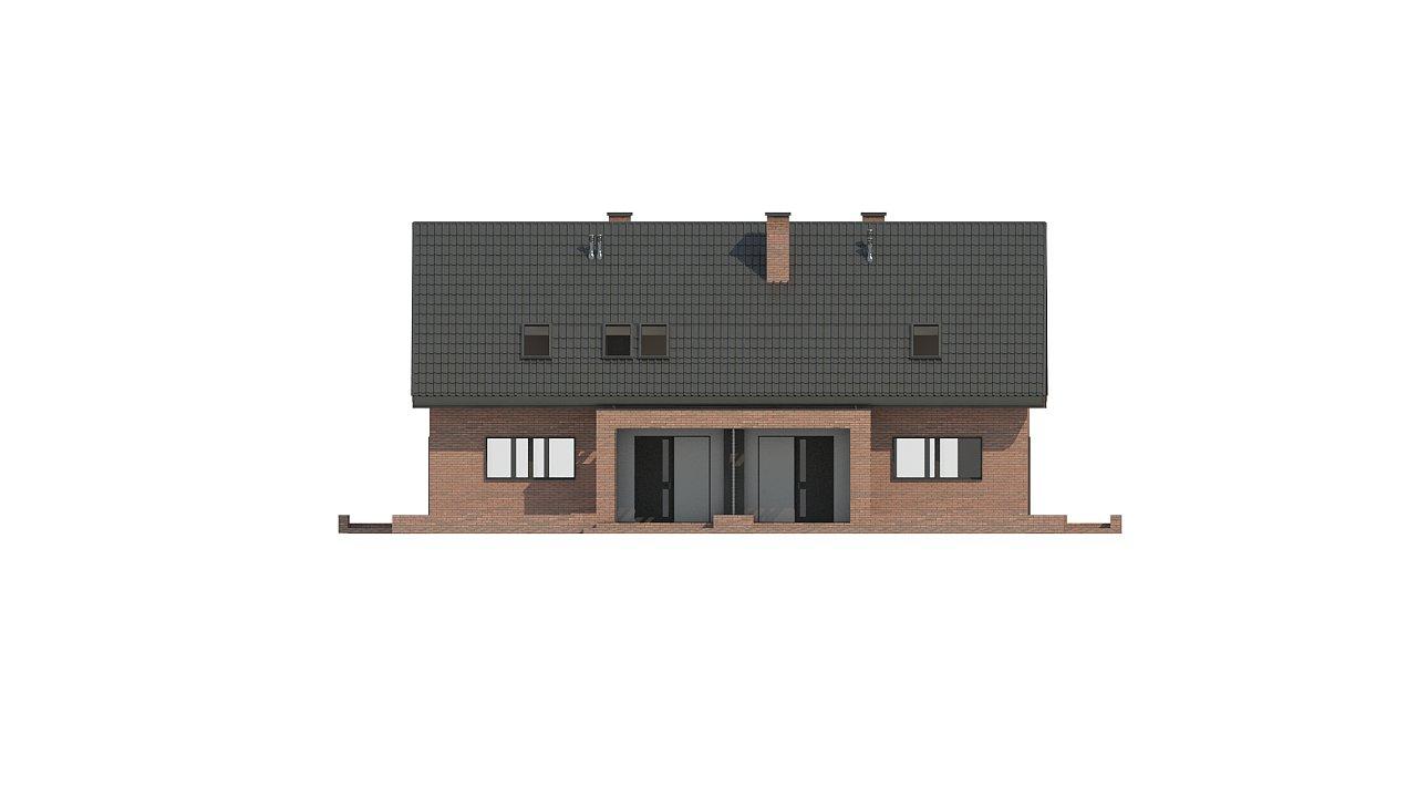 Стильный мансардный дом с двускатной кровлей 10