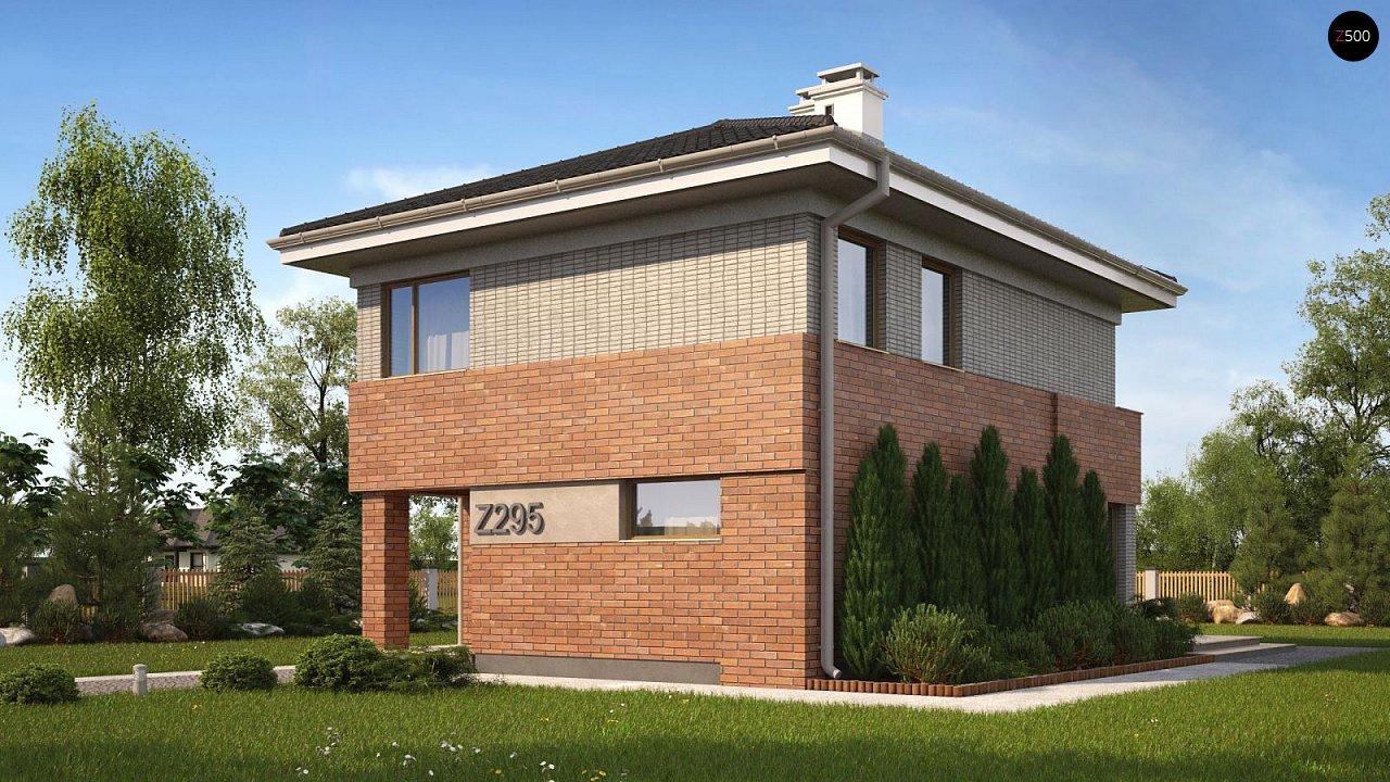 Проект компактного, функционального дома, с кирпичной облицовкой фасадов. 2