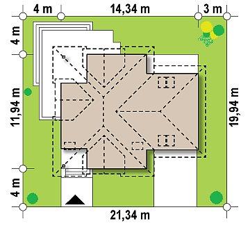 Комфортный дом привлекательного дизайна с дополнительной комнатой над гаражом. план помещений 1
