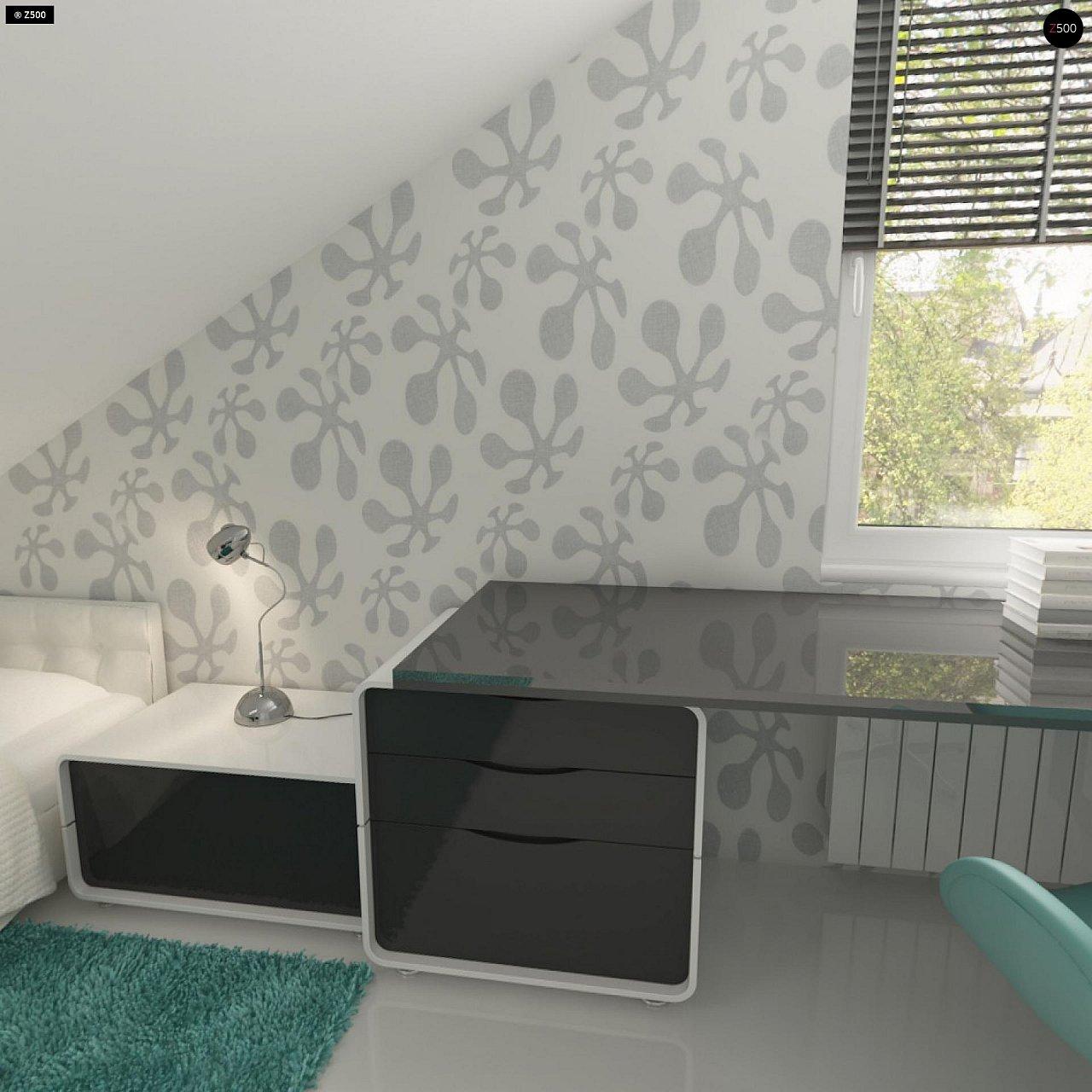 Практичный аккуратный дом с мансардой, со встроенным гаражом для одной машины. - фото 20