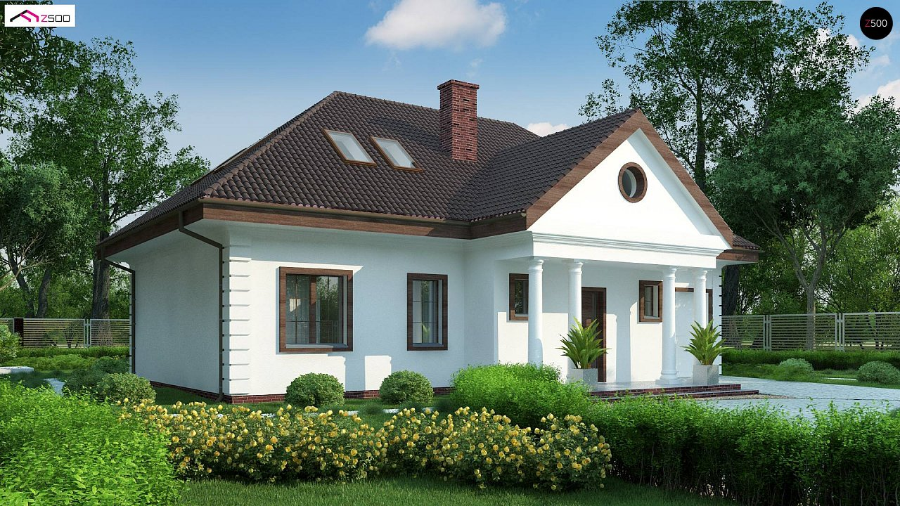 Проект дома в классическом стиле с роскошной мансардой и стильным экстерьером. - фото 5