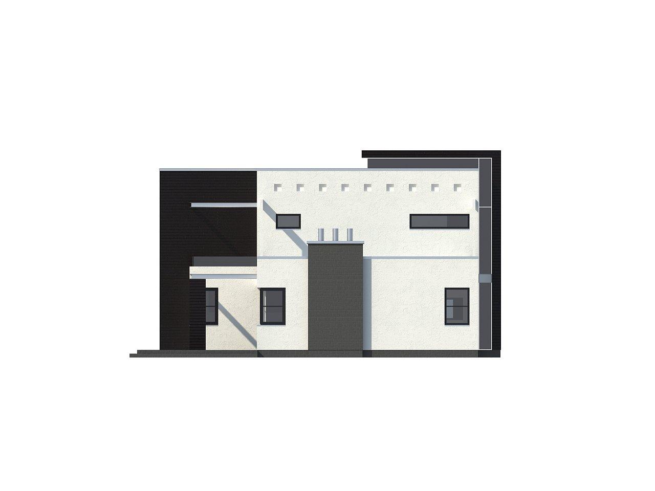 Современный дом кубической формы с террасой над гаражом. - фото 5