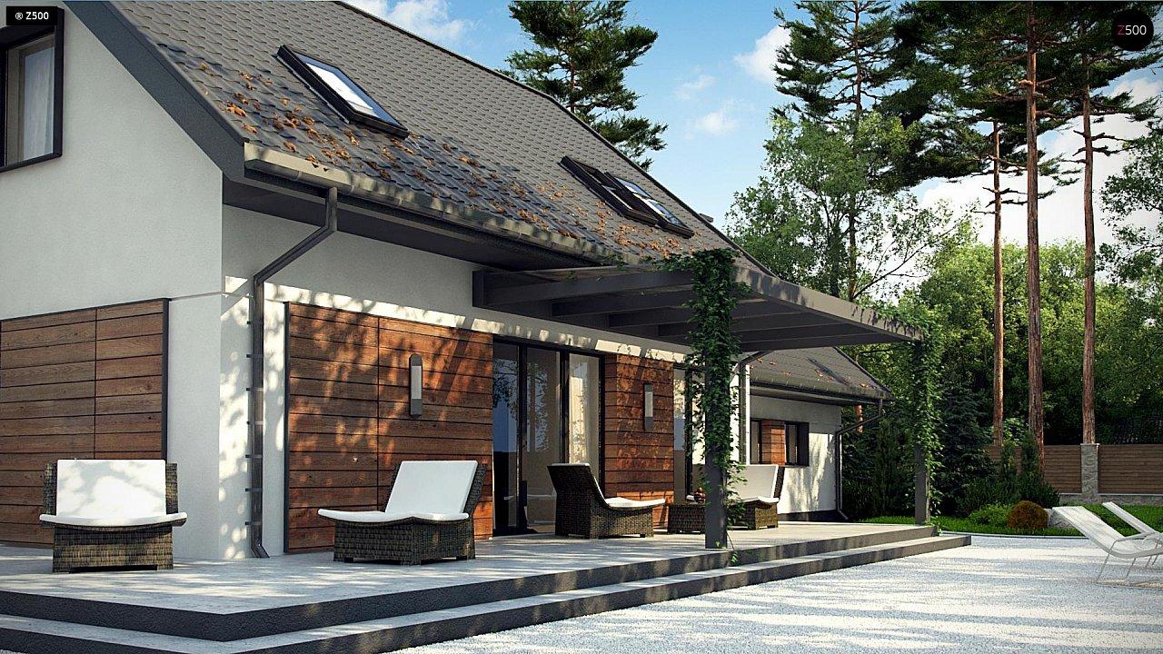 Аккуратный мансардный дом с гаражом для двух автомобилей 5