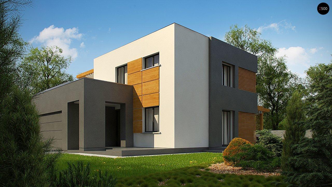 Двухэтажный коттедж современного лаконичного дизайна 3