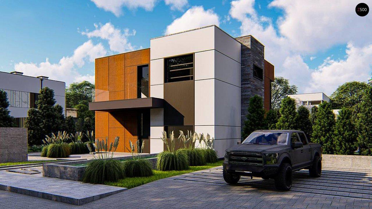 Современный двухэтажный дом без гаража 4