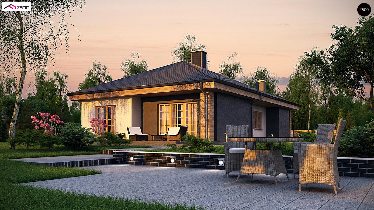 Красивый одноэтажный дом с удобной планировкой 3