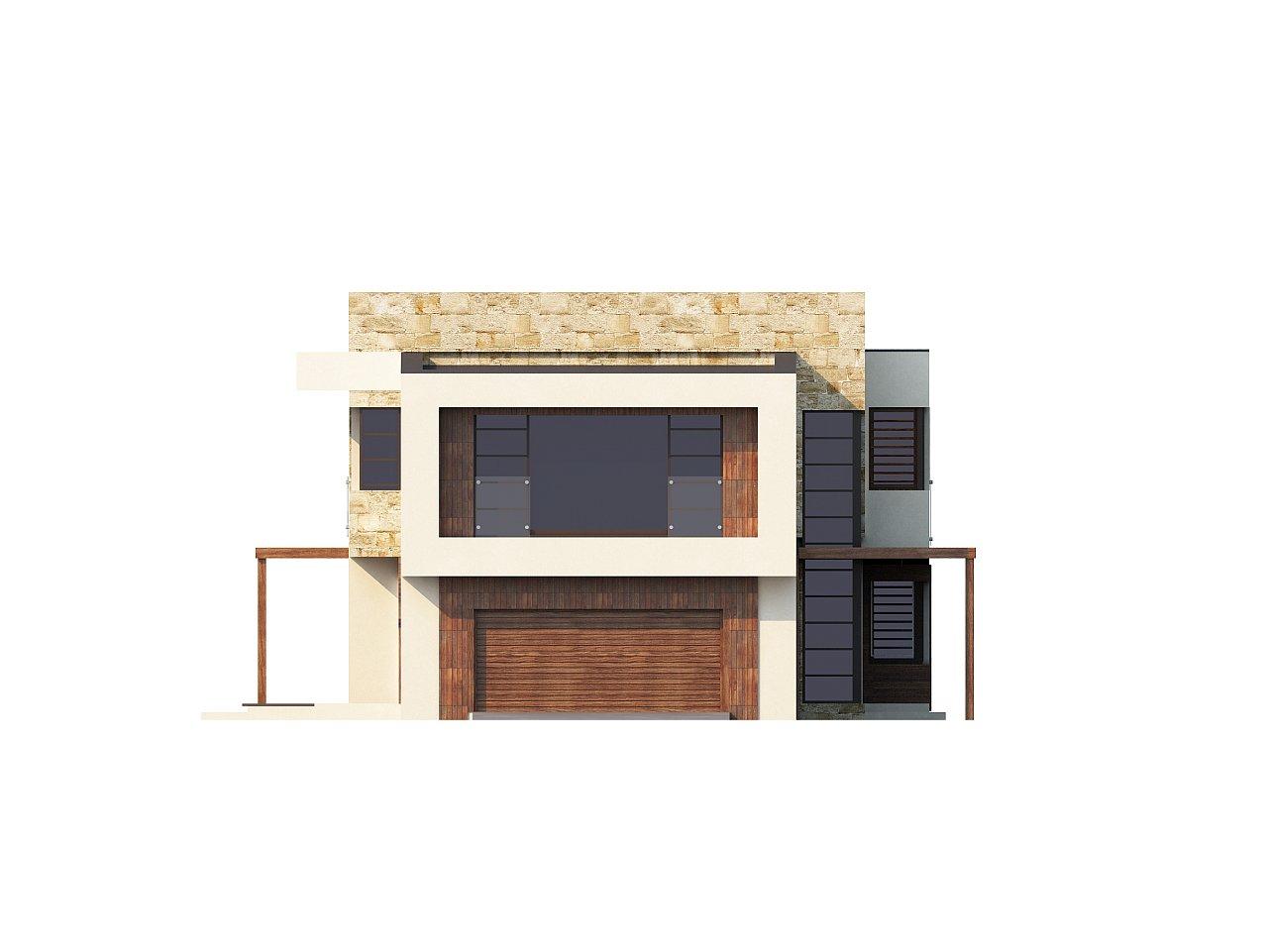 Двухэтажный дома в стиле модерн с практичным интерьером и гаражом для двух автомобилей. 6