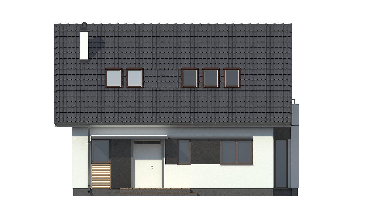 Проект простого в строительстве дома с двускатной кровлей. 19