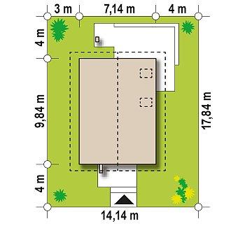 Аккуратный, практичный дом, также для узкого участка. план помещений 1