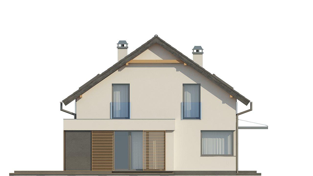 Дом простой энергосберегающей формы со светлым интерьером, подходящий для узкого участка. - фото 15